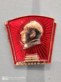 毛主席纪念章(异形)2cm×1.6cm
