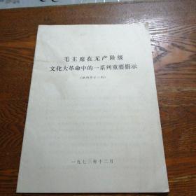 毛主席在无产阶级文化大革命中的一系列重要指示
