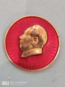 毛主席纪念章1.6cm北京红旗证章厂出品  背刻毛主席万岁