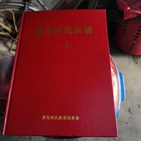 【几近全新,两本书的四块隔硬纸板都还在】惠安何氏族谱