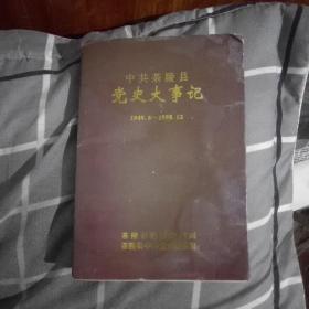 中共茶陵县党史大事记(1949、6一1998、12)