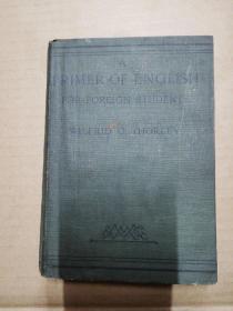 A PRIMER OF ENGLISH 【软精装,1914年印】