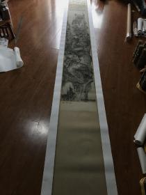 石涛 搜尽奇峰打草稿图卷。纸本大小44.27*625.83厘米。宣纸原色仿真。微喷