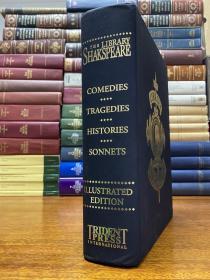Shakespeare Library  莎士比亚全集权威版本  大12开(尺寸23.5*31.5cm), 巨厚布面精装原版 纸张洁白如新 书重8斤多