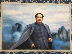何孔德手绘伟人油画1.90米x1.30米