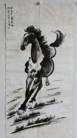 纯手绘字画国画奔马图 包老 编号09418