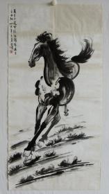 纯手绘字画国画奔马图 包老 编号09421