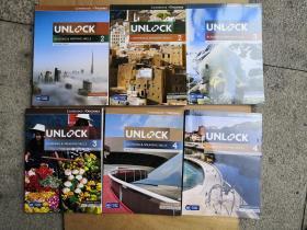 UNLOCK 教材 A2、B1、B2各2册,共6册合售