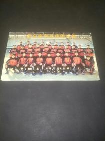 北京宽利足球俱乐部邮资明信片(八张全套)上面带有我国著名足球运动员曹限东等人亲笔签名     【见图拍】   此套签名邮资明信片是很有价值的足球运动收藏品