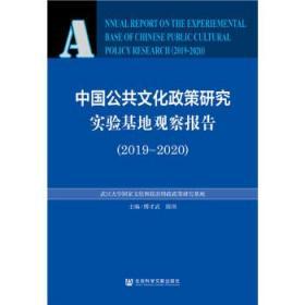 中国公共文化政策研究实验基地观察报告:2019-2020:2019-2020 傅