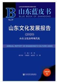 山东文化发展报告:2020:2020:山东文化治理现代化 张伟徐建勇赵迎