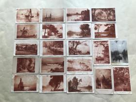 民国时期外国明信片21张,基本为风景图案,M013