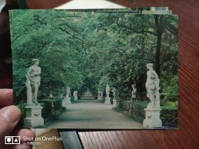 前苏联明信片:列宁格勒夏园风光三枚  奥罗拉艺术出版社1985年出版