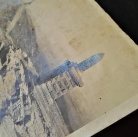 民国老照片,旅顺尔灵山纪念碑老照片