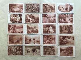 民国时期外国明信片36张,基本为人物图案,M005