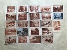 民国时期外国明信片23张,基本为动物图案,M012