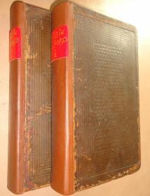 1826年 Walks in Oxford 《牛津漫步》极珍贵早期铜版画册 全真皮古董书 72张精美原品铜版画 2册全