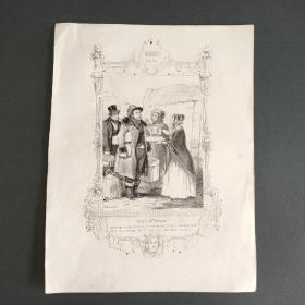 19世纪石印版画