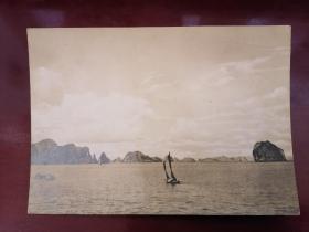 老明信片一枚 越南明信片 In Halong Basin