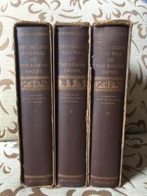 Decline and fall of the roman empire by Edward Gibbon -- 吉本《罗马帝国衰亡史》Heritage 1946年出品 三卷全