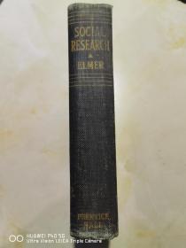 Social Research (Prentice-Hall Sociology Series)1939年首版,签名本(布面精装)