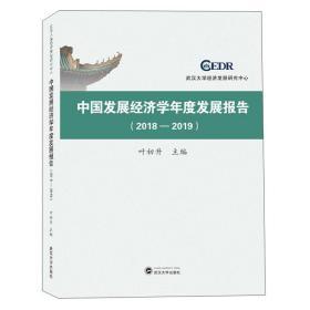 中国发展经济学年度发展报告(2018-2019)  叶初升  武汉大学出版社 9787307219588