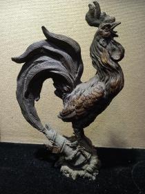中国工艺美术大师  钟汝荣作品  铜公鸡(高32)做工精  实物更靓