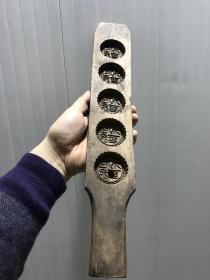 胶东长条硬木面食磕子-桃酥-五子连科