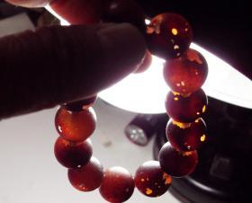 老褐红色大琉璃珠手串一串