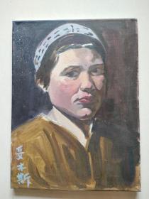 妥木斯 手绘布面油画人物  创作年代不详
