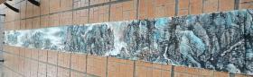 四川著名画家 杨成伟精品山水巨幅长条29*468厘米 原稿手绘原稿 永久保真