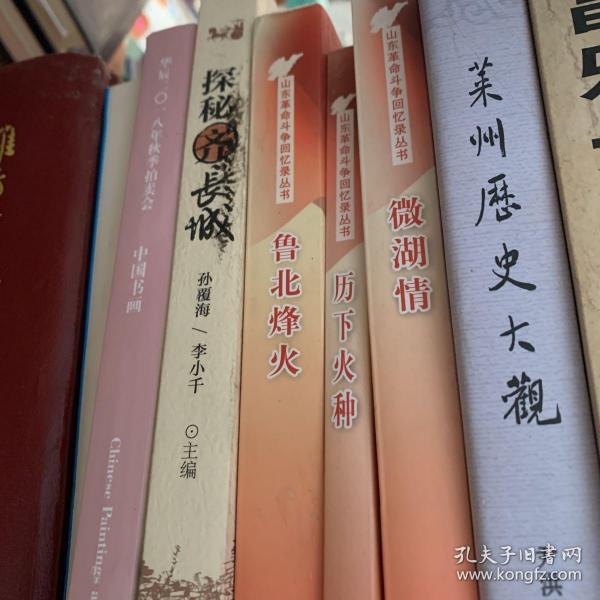 山东革命斗争回忆录丛书:(历下火种,微湖情,鲁北烽火)三册合售,也可单卖