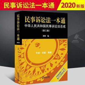 2020新正版 民事诉讼法一本通 第三版 邵明 中华人民共和国民事诉