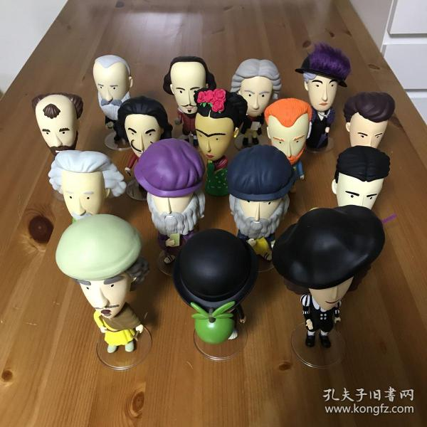 Today is Art Day PVC Figurines公仔 梵高 弗里达 达利 达芬奇 达芬奇夜光版 马格利特 莫奈 克林姆特 卡萨特 伦勃朗 维米尔 爱因斯坦 特斯拉 居里夫人 莎士比亚 贝多芬