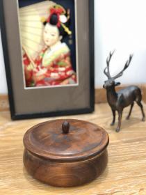 日本制|全品一木挖茶道具收纳木盒