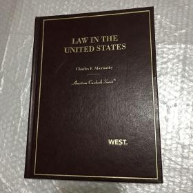 Law in the United States  (英文原著原版《美国法律架构》)