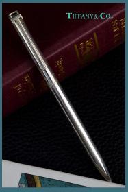 欧美古董收藏品美国蒂芙尼Tiffany纯银圆珠笔书写文具文房用品