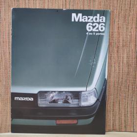 1983年 马自达 MAZDA 626 轿车四门/五门 汽车 样本 目录 画册 宣传册