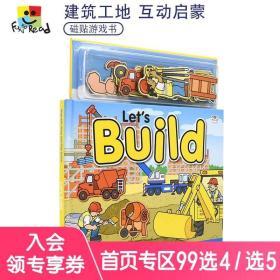 Magnetic Story and Play Scene Let's Build 一起来建造吧 认识工地 磁贴启蒙认知玩具游戏书 幼儿互动英语绘本 英文原版进口