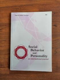 Social Behavior and Personality社会行为和人格杂志(2016年44(7))