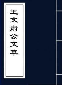 【复印件】王文肃公文草