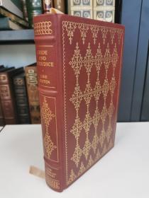 Pride and Prejudice《傲慢与偏见》简 奥斯汀 Jane Austen 经典代表作 franklin library 1980年真皮精装 限量收藏版 世界100伟大名著系列丛书之一