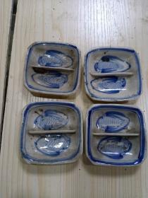 酱油碟  4个合售(尺寸如图)