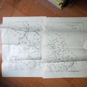 抗日战争时期及解放战争时期华中政区图