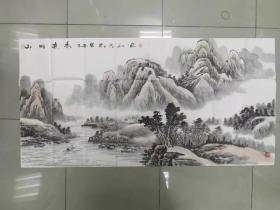【保真 特惠】中书协会员 山东美协会员 郝吉和 四尺整张山水2