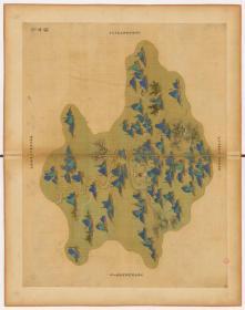 0006-85古地图1661-1681清浙江省青碧山水。宣平县。纸本大小59.86*75.71厘米。宣纸原色微喷印制,按需印制不支持退货
