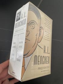 (配书匣,包塑封)Mencken:Prejudices     门肯《偏见集》,2卷全,(《美国语言》 作者),文笔锐利,布面精装,重超1公斤,权威美国文库版