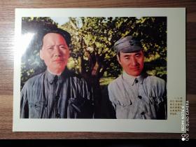 文革时期:《毛主席和林彪在延安》宣传画八开