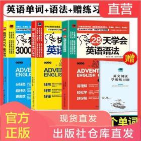 赠音频 全3册28天学会英语语法+看图学会3000英语单词+快速记忆英