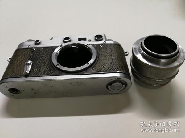 二战前苏联仿莱卡全金属机械胶片旁轴照相机带镜头